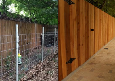 Fence and pavers